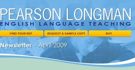 Pearson Longman ESL April newsletter