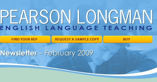Pearson Longman ESL February newsletter