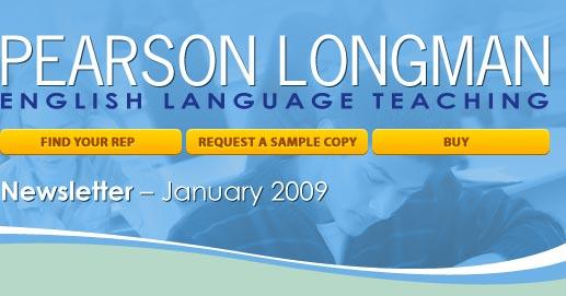 Pearson Longman ESL January newsletter